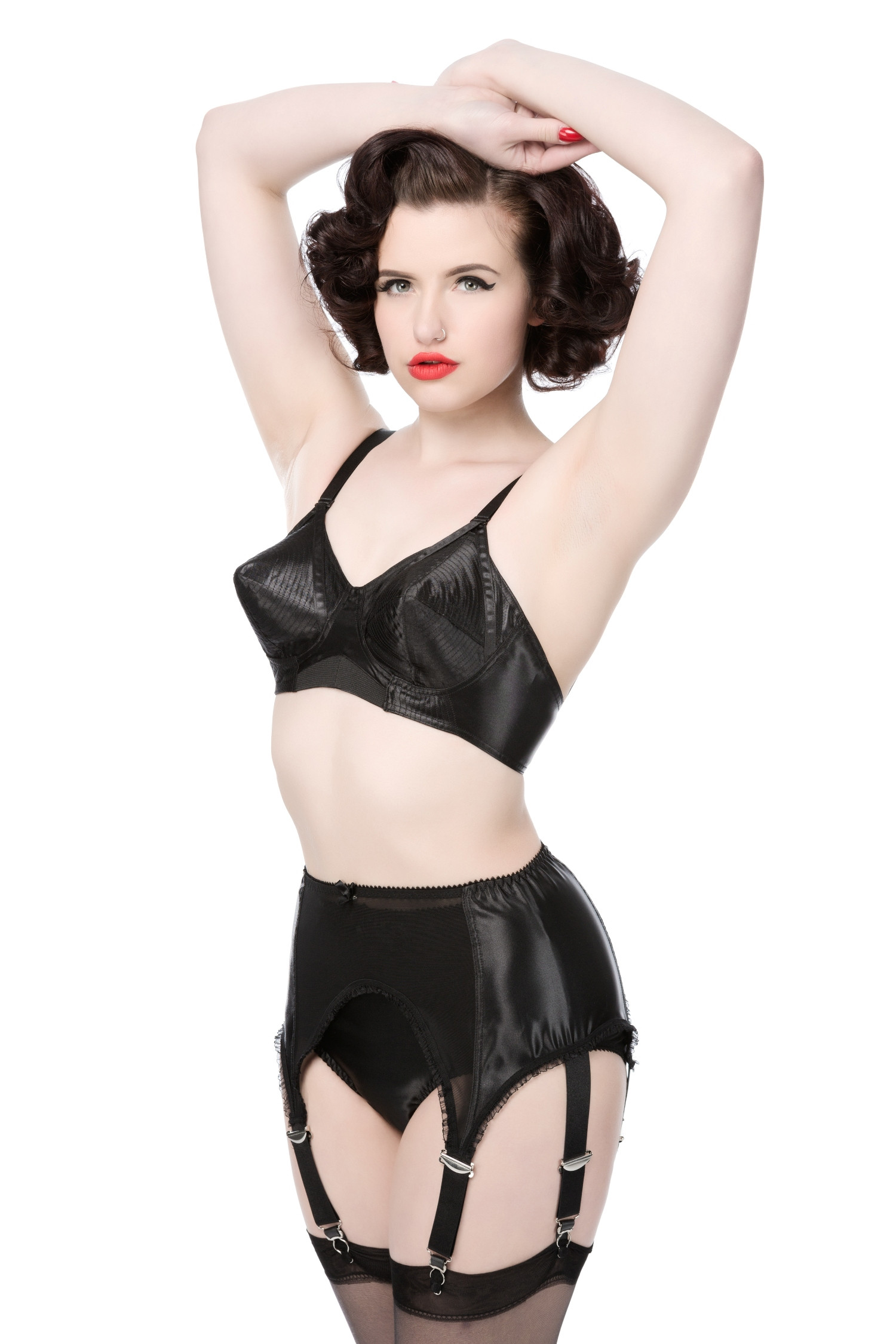 Court Royal Rosa Suspender Belt