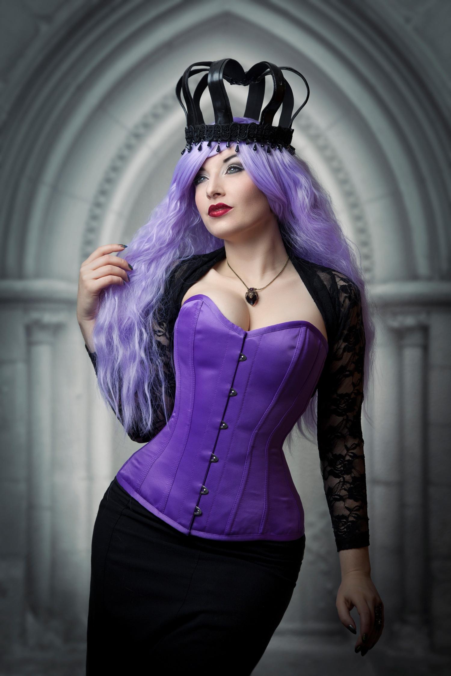 Dita Corset In Purple Duchess Satin