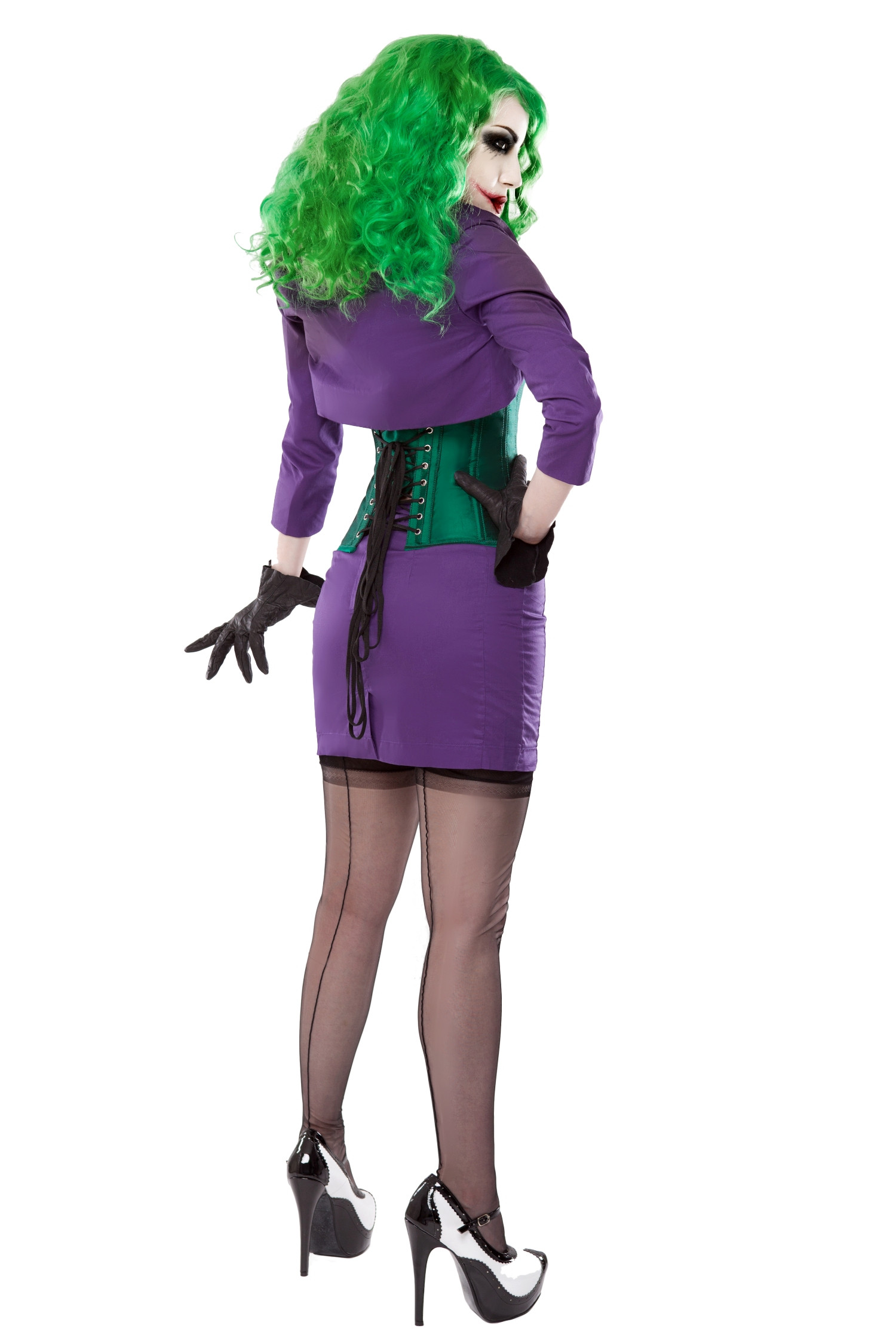 Purple Short Pencil Skirt