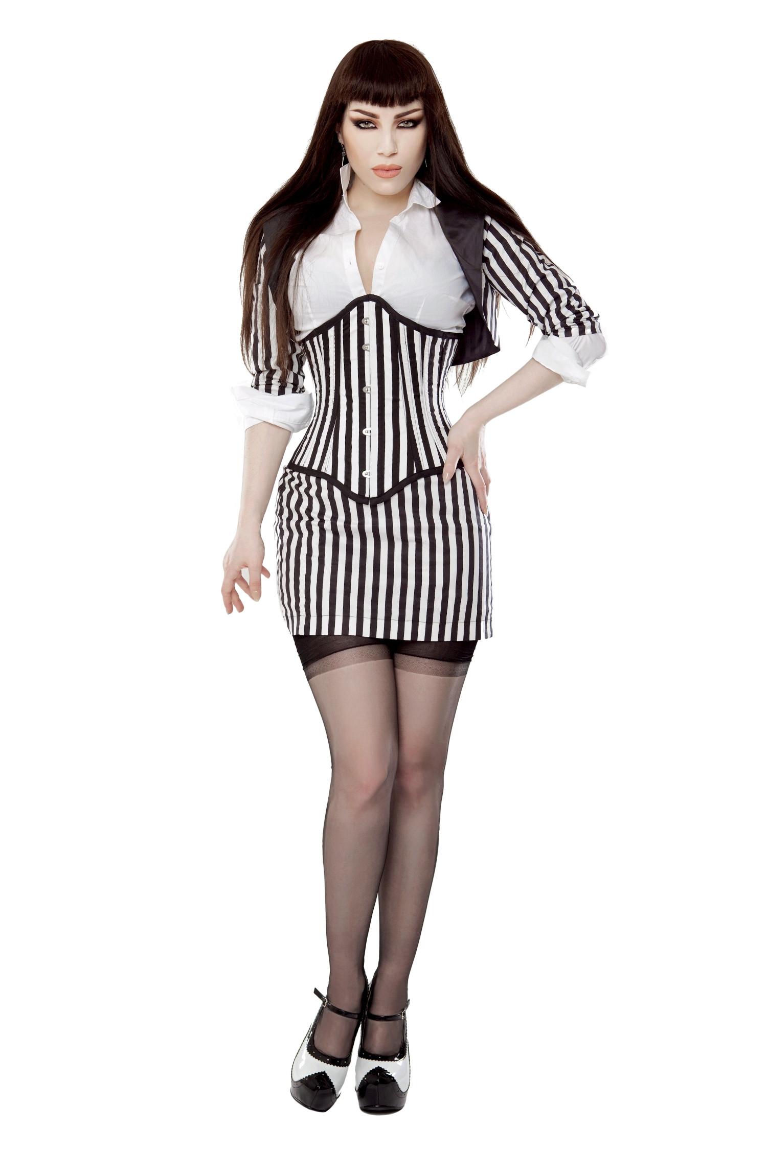 Black & White Fitted Bolero Shrug Top