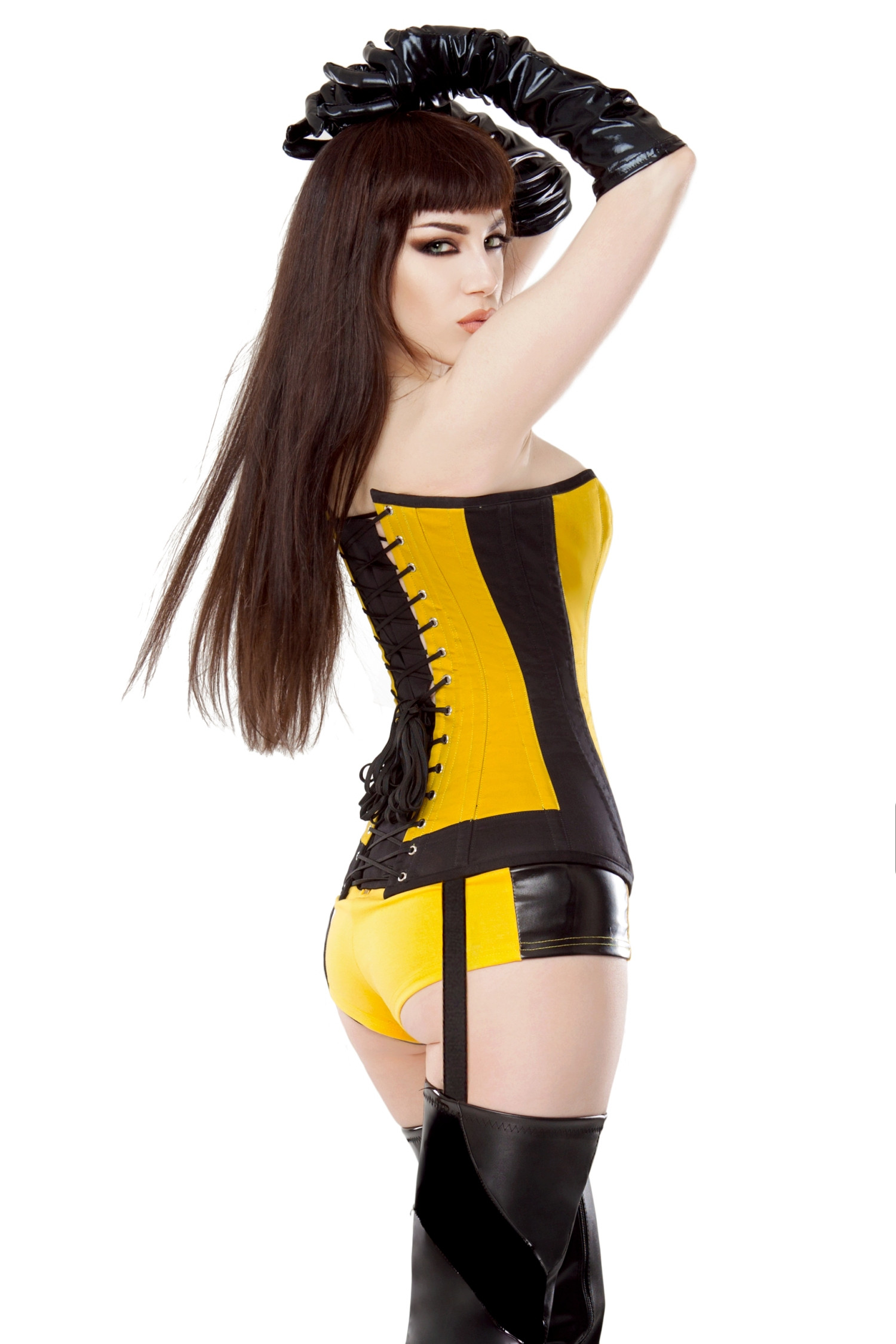 Yellow & Black Silk Spectre Shorts