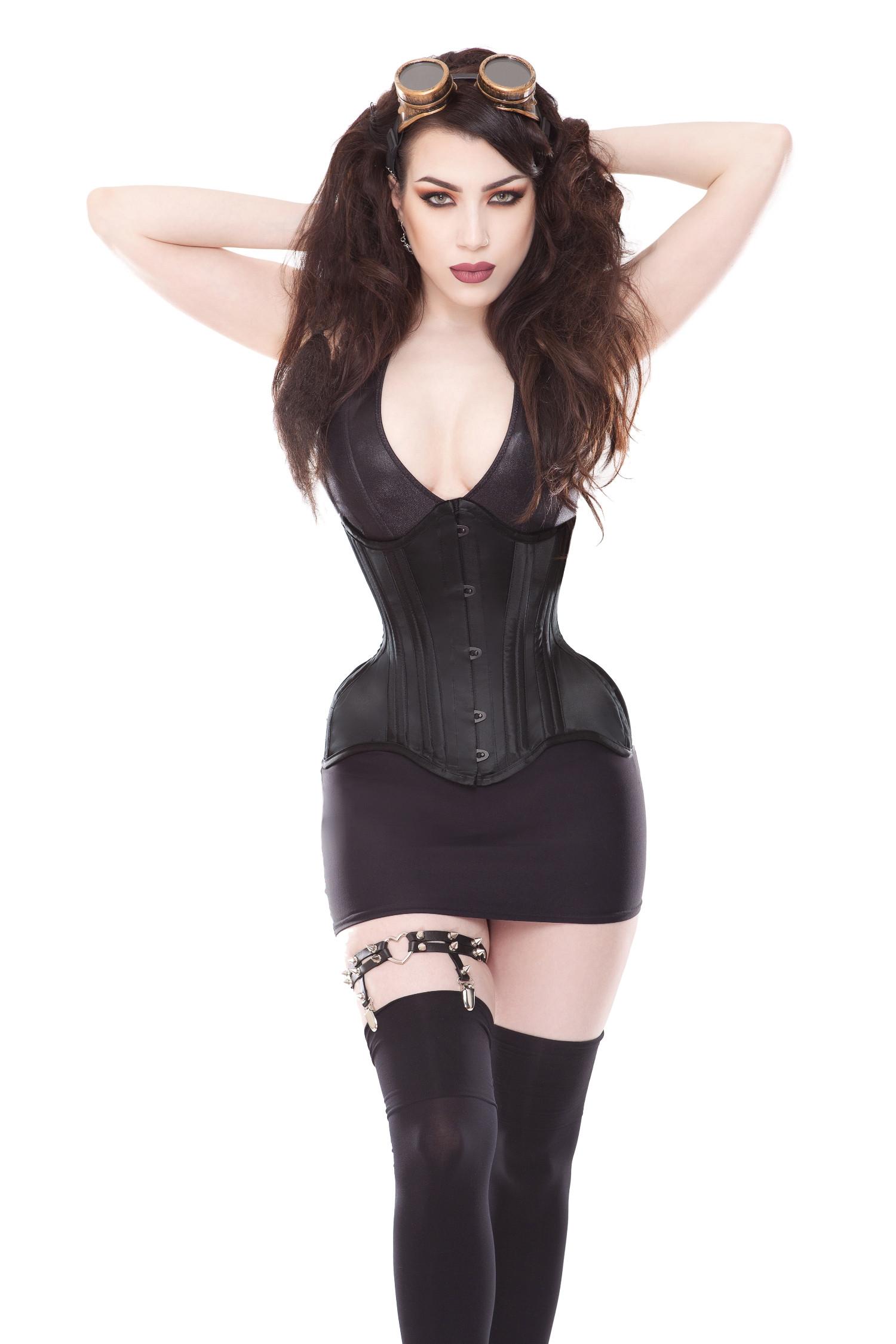 Playgirl Curvella Full Hips Black Waist Training Corset