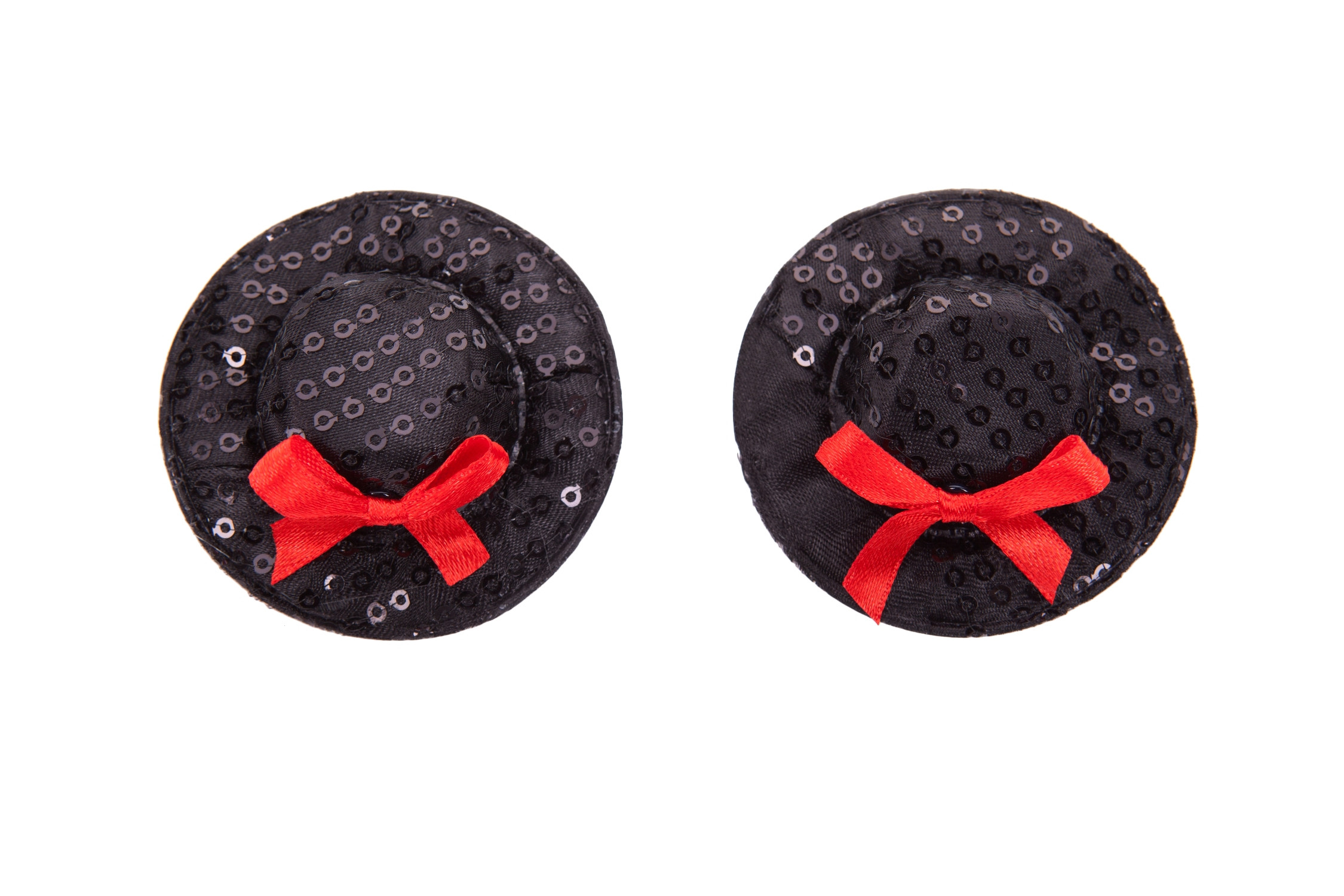 Black Top Hat Nipple Pasties
