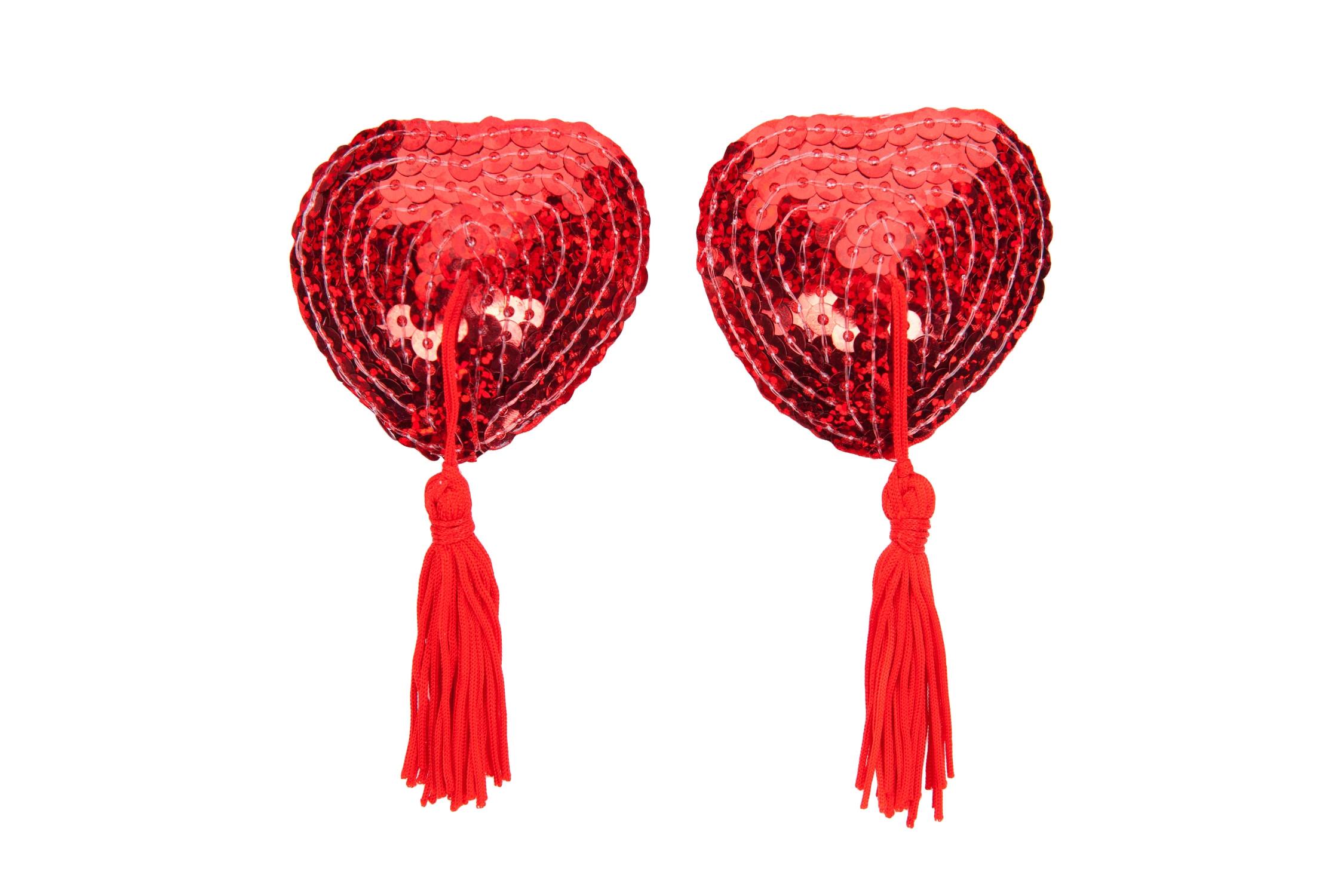 Red Sequin Nipple Tassels