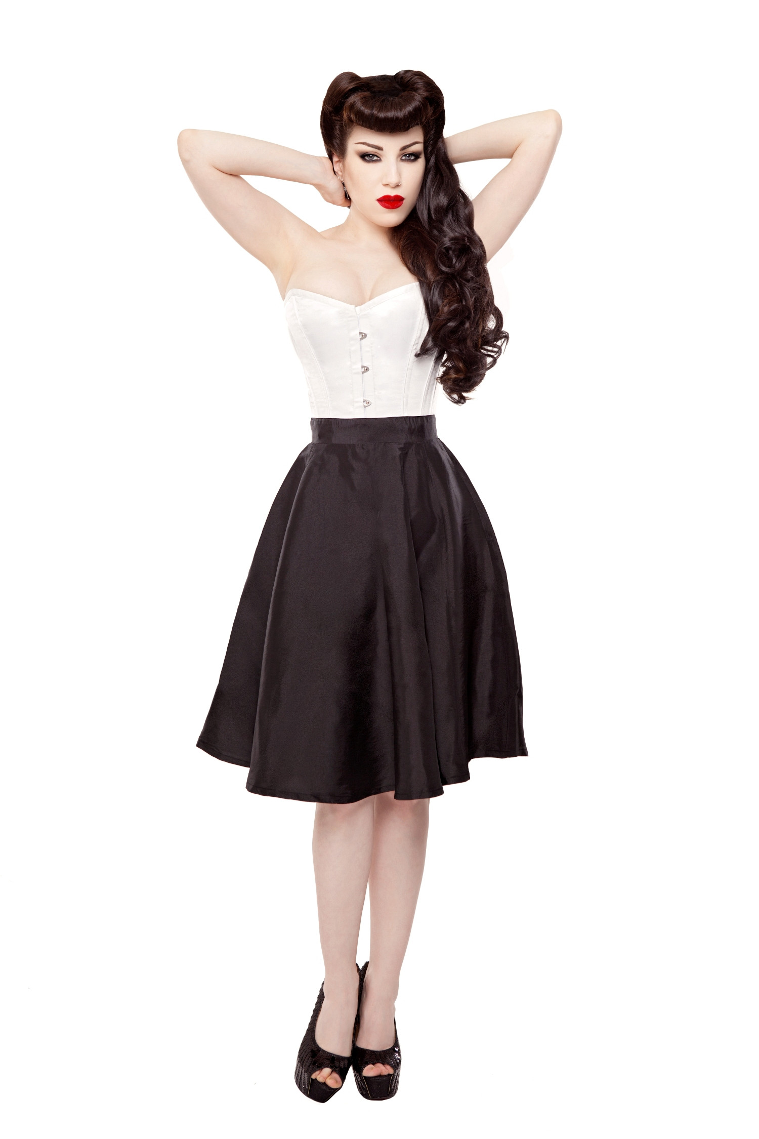 Black Tafetta Circle Skirt
