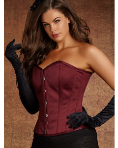 Plus Size Delphine Silk Steel Boned Corset