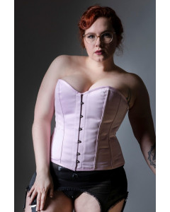 Dita Corset in Pink Duchess Satin