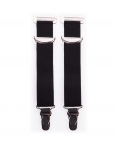 Pair Of Wide Black High Quality Metal Suspenders