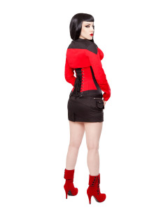 Black & Red Cotton Bolero Shrug Top