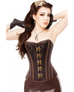 Brocade & Brass Steampunk Steel Boned Corset