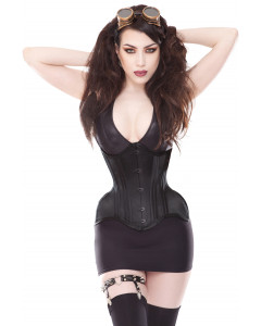 Plus Size Curvella 24 Bone Extra Curvy Black Waist Training Corset With Full Hips