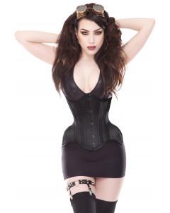 Plus Size Curvella 24 Bone Extra Curvy Black Waist Training Corset With Full Hips