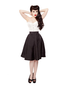 Black Tafetta Circle Skirt