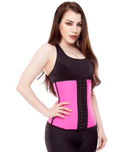 Playgirl Fuscia Latex Work Out Waist Trainer