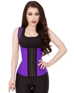 Playgirl Purple Latex Waist Trainer Sports Vest