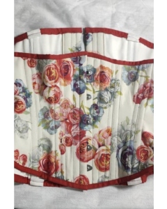 Special Edition Artemis Hourglass Corset in Rose Print