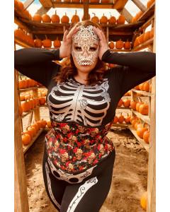 Day of the Dead Día de los Muertosugar Sugar Skull Artemis Corset