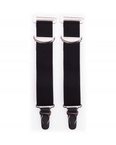 Paar breite schwarze hochwertige Metallträger