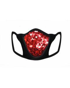Black Cotton & Lycra Breath Easy Gesichtsmaske mit HEPA-Filter