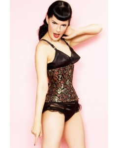 Playgirl Eve Steel ohne Knochen Brocade Waist Cincher