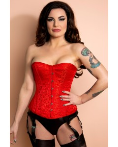Playgirl Layla Red Steel ohne Knochen Jacquard Korsett