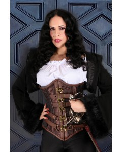 Playgirl Gordine Gored Hips 24 Knochen Taille Training Steampunk Korsett