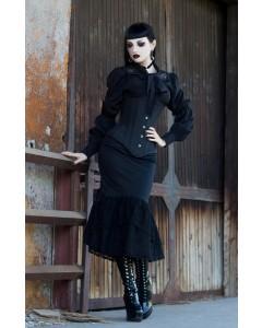 Gothic Gored Korsett & schwarze Lackstiefel