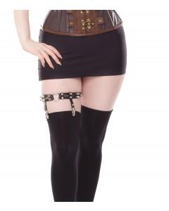 Strumpfband mit schwarzem Bein
