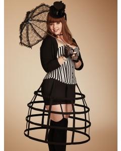 Plus Size Paloma gestreiftes Baumwollstahlkorsett ohne Knochen