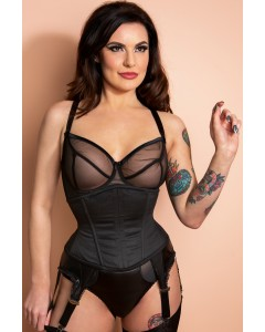 Buskless Steel Boned Waist Cincher Korsett