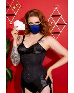 Royal Blue Cotton & Lycra Breath Easy Gesichtsmaske mit HEPA-Filter