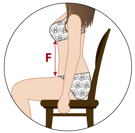 Visual guide on how to measure your torso for a waist training corset