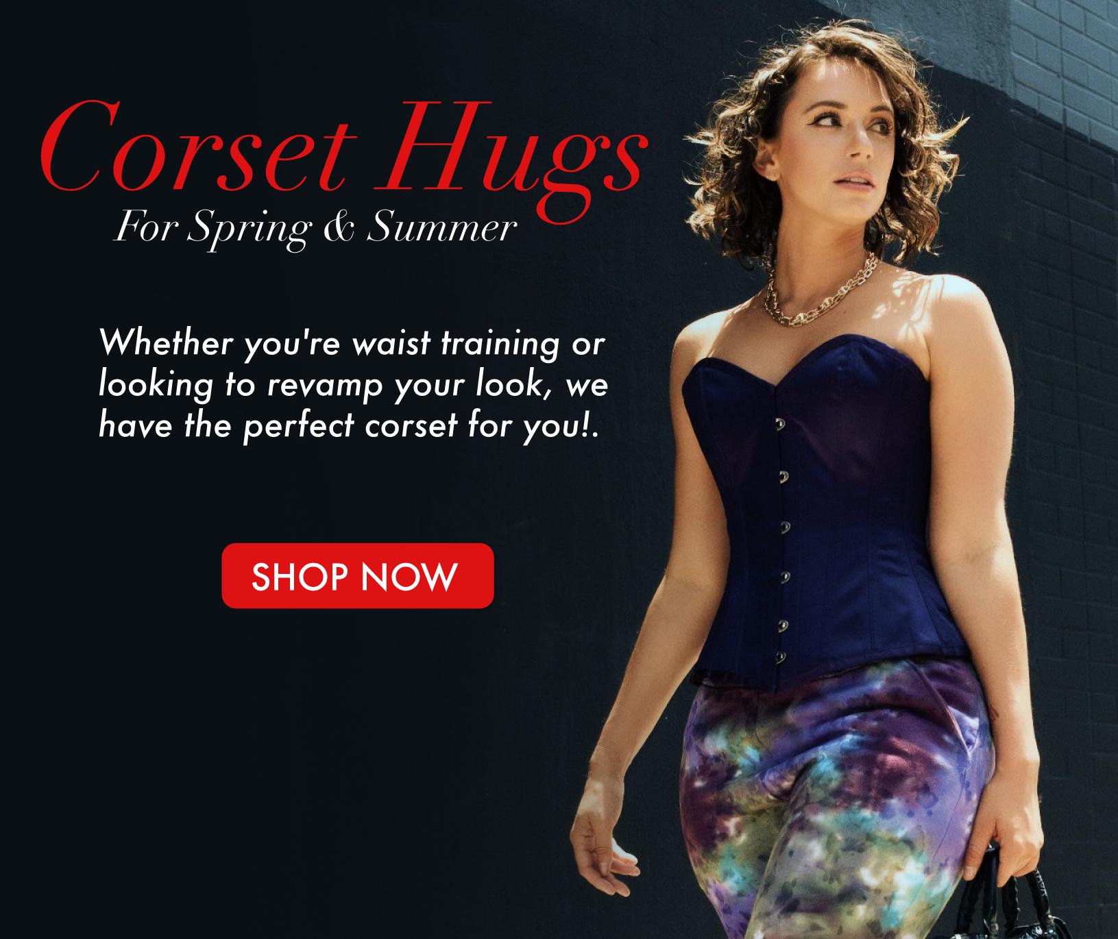 Steel boned corsets